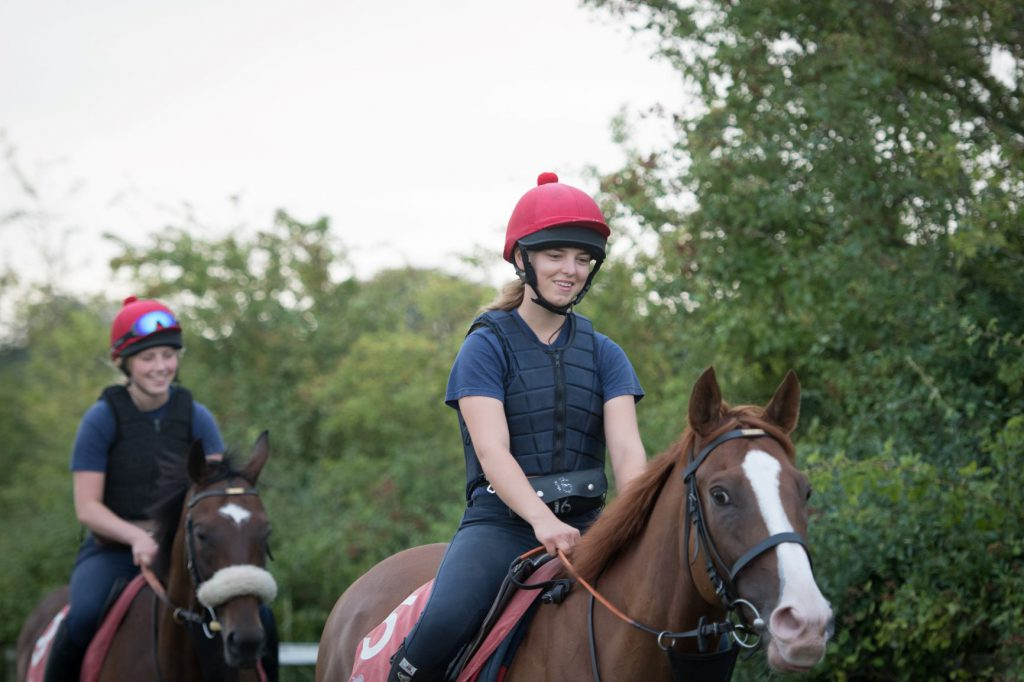 Horse and rider at British Racing School