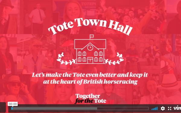 Tote Town Hall video screenshot