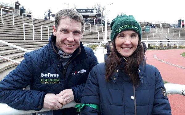 Debbie and Richard Johnson go racing green