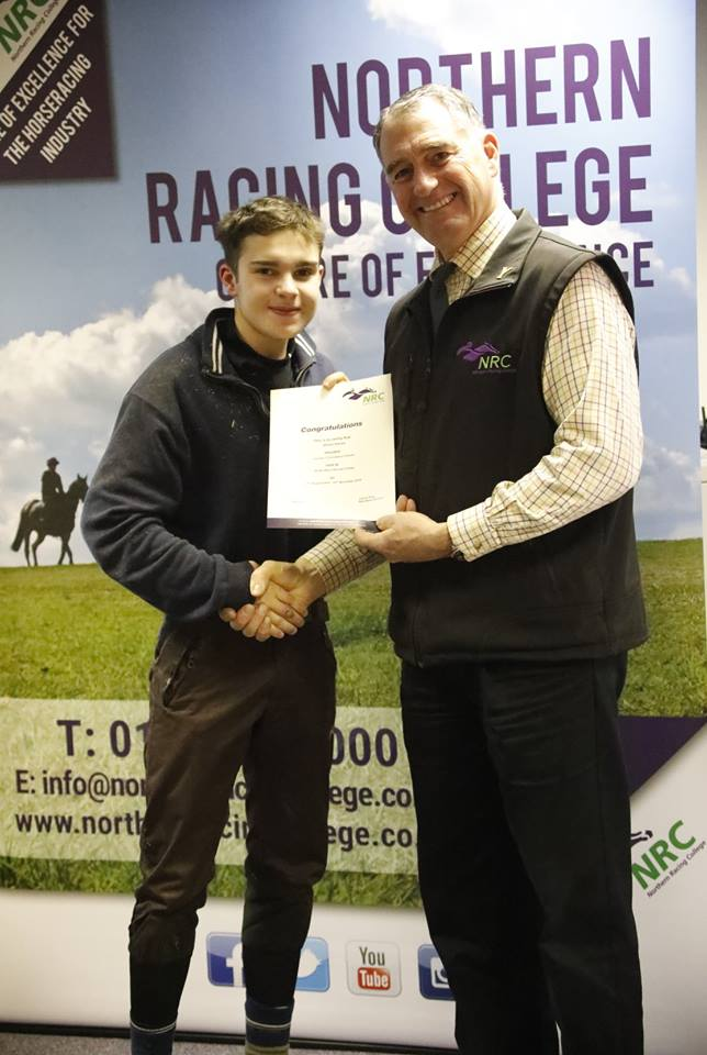 Shaun at Northern Racing College
