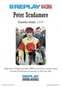 Peter Scudamore's replay card