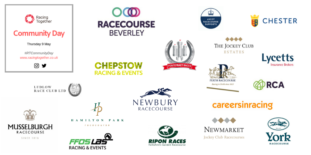 logos for Racing Together Community Day participants.