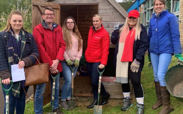 Chepstow Racecourse and Racing Welfare volunteer at local primary school