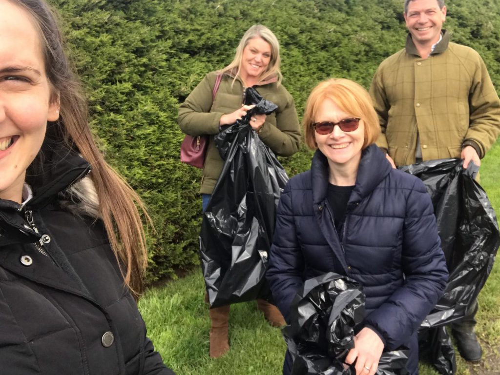 Kelso litter pick Racing Together Community Day