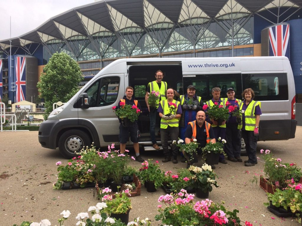 Plant donations at Ascot Racecourse