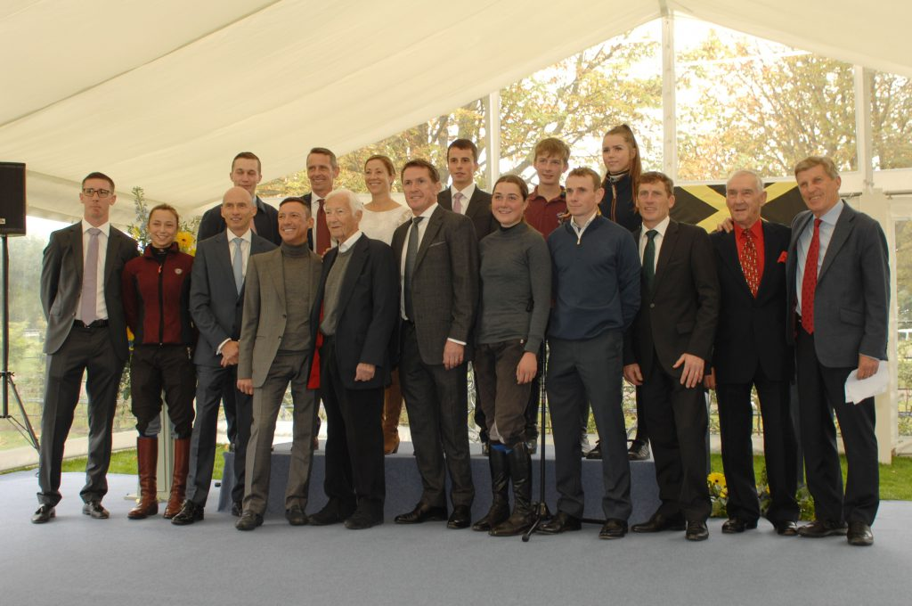 Jockeys past and present attended to celebrate the official opening